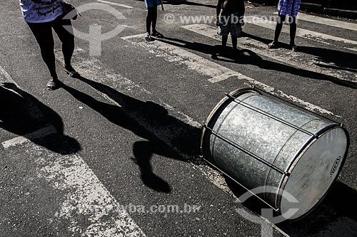 Assunto: Instrumento do bloco de carnaval de rua Banda da Bolívar / Local: Copacabana - Rio de Janeiro (RJ) - Brasil / Data: 02/2012