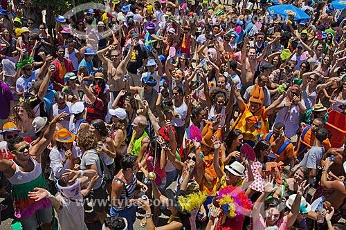 Assunto: Desfile do bloco de carnaval de rua Me beija que eu sou cineasta / Local: Gávea - Rio de Janeiro (RJ) - Brasil / Data: 02/2012