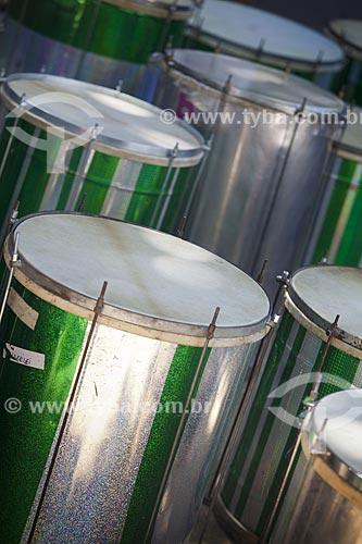 Assunto: Instrumentos do bloco de carnaval de rua Me esquece / Local: Jardim Botânico - Rio de Janeiro (RJ) - Brasil / Data: 02/2012