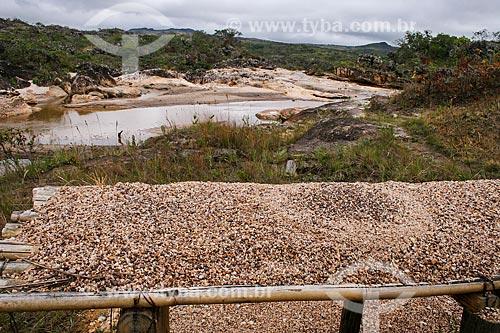 Assunto: Vista do Garimpo Real no Ribeirão do Guinda - Afluente do Rio Jequitinhonha / Local: Diamantina - Minas Gerais (MG) - Brasil / Data: 12/2007