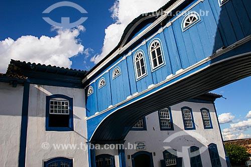 Assunto: Passadiço da Casa da Glória - Localizado na Rua da Glória / Local: Diamantina - Minas Gerais (MG) - Brasil / Data: 12/2007