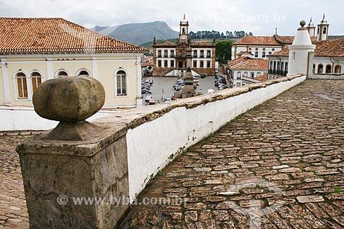 Assunto: Vista do Museu da Inconfidência - antiga Casa de Câmara e Cadeia de Vila Rica ao fundo / Local: Ouro Preto - Minas Gerais (MG) - Brasil / Data: 12/2007