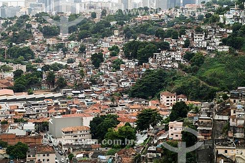 Assunto: Vista do Morro do Fogueteiro / Local: Catumbi - Rio de Janeiro (RJ) - Brasil / Data: 05/2011