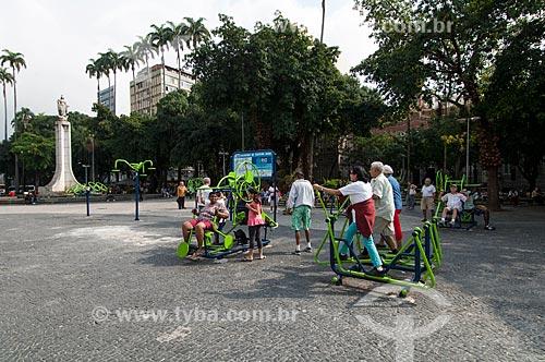 Assunto: Academia da Terceira idade na Praça do Largo do Machado / Local: Largo do Machado - Rio de Janeiro (RJ) - Brasil / Data: 06/2011