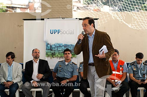 Assunto: Fórum no Morro do Borel com o Secretário de Transportes Carlos Roberto Osório falando sobre a UPP Social / Local: Tijuca - Rio de Janeiro (RJ) - Brasil / Data: 06/2011