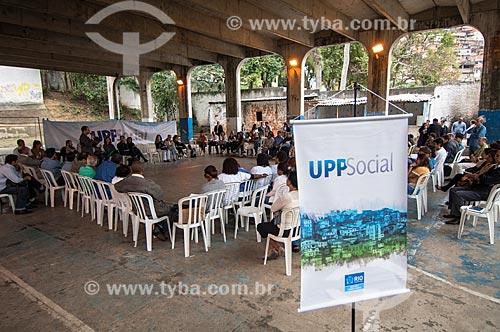 Assunto: Encontro de representantes do poder público com moradores e líderes para falar sobre a UPP Social no Fórum do Morro dos Macacos / Local: Tijuca - Rio de Janeiro (RJ) - Brasil / Data: 08/2011