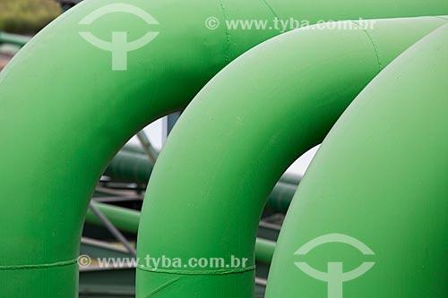Assunto: Tubulações de água da Companhia Siderúrgica do Atlântico (CSA) - Thyssenkrupp / Local: Santa Cruz - Rio de Janeiro (RJ) - Brasil / Data: 02/2014