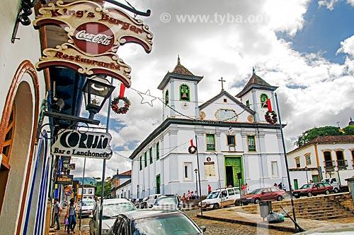 Assunto: Vista da Catedral Basílica Nossa Senhora da Assunção (1760) - também conhecida como Igreja da Sé - a partir da Praça da Sé / Local: Mariana - Minas Gerais (MG) - Brasil / Data: 01/2014