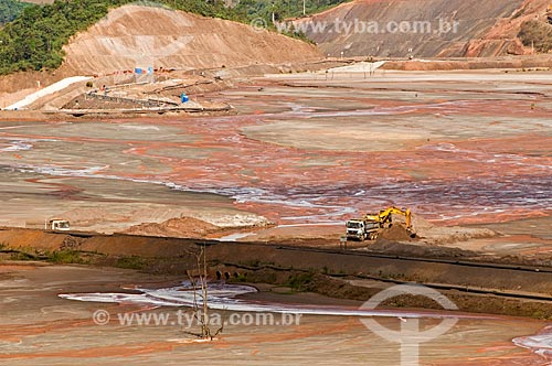 Assunto: Área de depósito de rejeito de sílica (areia) - material não comercial extraído junto com o minério de ferro - próximo à Mina Germano da Samarco Mineração / Local: Mariana - Minas Gerais (MG) - Brasil / Data: 01/2014