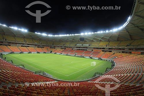 Assunto: Interior da Arena da Amazônia Vivaldo Lima (2014) / Local: Manaus - Amazonas (AM) - Brasil / Data: 03/2014