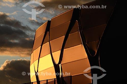 Assunto: Pôr do sol na Arena da Amazônia Vivaldo Lima (2014) / Local: Manaus - Amazonas (AM) - Brasil / Data: 03/2014
