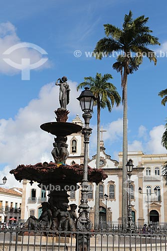 Assunto: Terreiro de Jesus - também conhecida como Praça 15 de novembro - com a Igreja de São Domingos ao fundo / Local: Salvador - Bahia (BA) - Brasil / Data: 02/2014