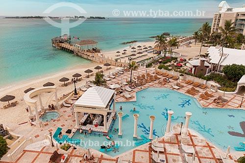 Assunto: Vista da piscina do Sandals Royal Bahamian Spa Resort & Offshore Island / Local: Ilha de Nova Providência - Bahamas - América Central / Data: 06/2013