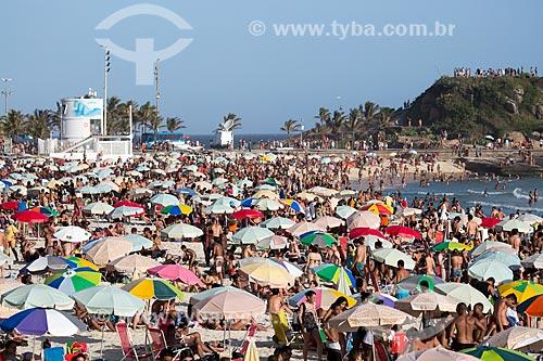 Assunto: Banhistas na Praia do Arpoador / Local: Ipanema - Rio de Janeiro (RJ) - Brasil / Data: 02/2014