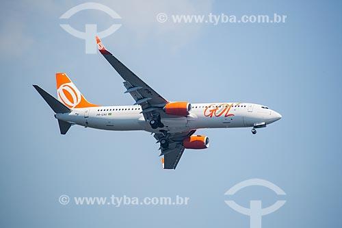 Assunto: Avião da GOL - Linhas Aéreas Inteligentes - sobrevoando o Rio de Janeiro / Local: Rio de Janeiro (RJ) - Brasil / Data: 01/2014