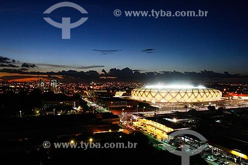 Assunto: Vista da Arena da Amazônia Vivaldo Lima (2014) / Local: Manaus - Amazonas (AM) - Brasil / Data: 04/2014