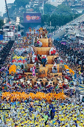 Assunto: Desfile do Grêmio Recreativo Escola de Samba Unidos da Tijuca - Carro alegórico - Enredo 2014 - Acelera, Tijuca! / Local: Rio de Janeiro (RJ) - Brasil / Data: 03/2014