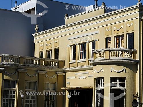 Assunto: Detalhe da fachada do Clube Comercial de Taquara (1926) / Local: Taquara - Rio Grande do Sul (RS) - Brasil / Data: 12/2013