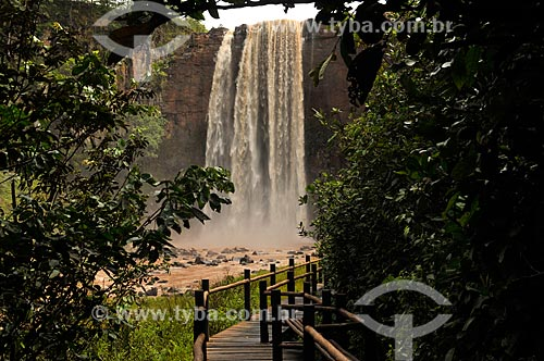 Assunto: Salto Majestoso (64 metros) conhecido também como Salto do Rio Sucuriú - Parque Natural Municipal Salto do Sucuriú / Local: Costa Rica - Mato Grosso do Sul (MS) - Brasil / Data: 02/2014