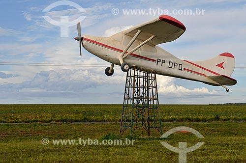 Assunto: Réplica do Avião usado pelo aviador e colonizador Julio Martins para colonizar a região do Chapadão do Sul / Local: Chapadão do Sul - Mato Grosso do Sul (MS) - Brasil / Data: 02/2014