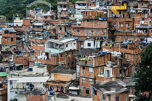 Assunto: Casas da Favela Santa Marta / Local: Botafogo - Rio de Janeiro (RJ) - Brasil / Data: 08/2012