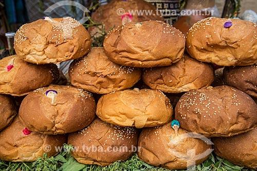 Assunto: Pan de muerto - é um pão doce enfeitado com figuras usadas nas celebrações do Dia dos Mortos no México / Local: Oaxaca - México - América do Norte / Data: 10/2013