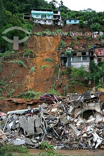 Assunto: Deslizamento de terra causado pelas fortes chuvas / Local: Nova Friburgo - Rio de Janeiro (RJ) - Brasil / Data: 01/2011