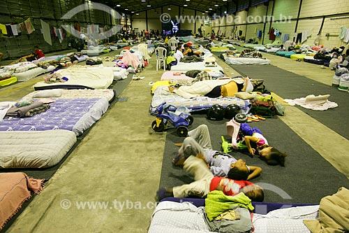 Assunto: Abrigo para os desabrigados pelas fortes chuvas / Local: Teresópolis - Rio de Janeiro (RJ) - Brasil / Data: 01/2011