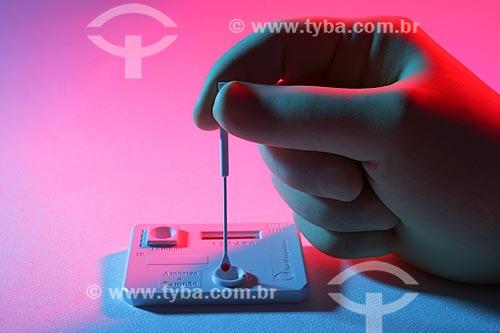 Assunto: Kit de teste para HIV produzido pela Biomanguinhos / Local: Manguinhos - Rio de Janeiro (RJ) - Brasil / Data: 06/2011