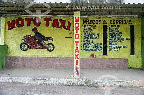 Assunto: Ponto de mototáxi no Complexo do Alemão / Local: Rio de Janeiro (RJ) - Brasil / Data: 11/2010