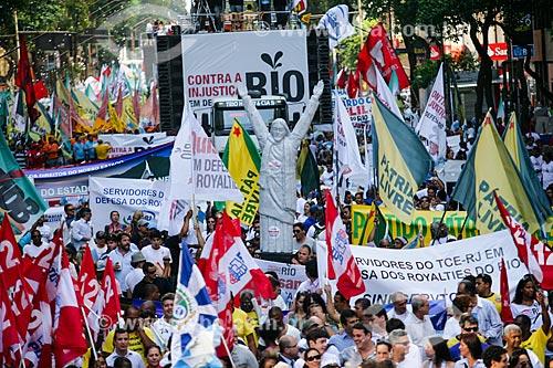 Assunto: Manifestação Contra a Covardia! Em defesa do Rio! - contra distribuição dos royalties do petróleo / Local: Centro - Rio de Janeiro (RJ) - Brasil / Data: 11/2011