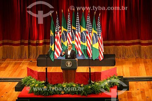 Assunto: Discurso de Barack Obama no Theatro Municipal do Rio de Janeiro / Local: Centro - Rio de Janeiro (RJ) - Brasil / Data: 03/2011