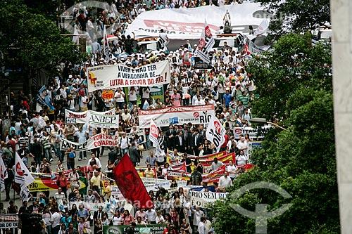 Assunto: Manifestação Veta Dilma! - contra distribuição dos royalties do petróleo / Local: Centro - Rio de Janeiro (RJ) - Brasil / Data: 11/2012