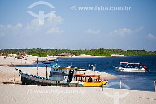 Assunto: Paisagem com barcos no Rio Preguiças / Local: Barreirinhas - Maranhão (MA) - Brasil / Data: 06/2013