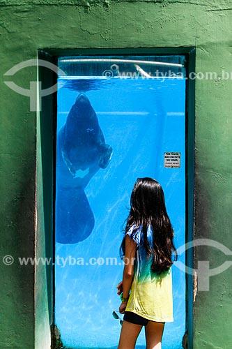 Assunto: Tanque do Peixe-Boi no Instituto de Pesquisas da Amazônia (INPA) / Local: Manaus - Amazonas (AM) - Brasil / Data: 04/2014