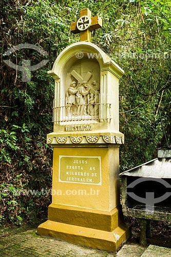 Assunto: Estação da Via Sacra no caminho para a Gruta Nossa Senhora de Lourdes, no Parque Ecológico do Santuário Nossa Senhora de Angelina / Local: Angelina - Santa Catarina (SC) - Brasil / Data: 04/2014