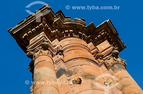 Assunto: Detalhe das ruínas da Igreja de São Miguel das Missões - Sítio Arqueológico de São Miguel Arcanjo / Local: São Miguel das Missões - Rio Grande do Sul (RS) - Brasil / Data: 06/2012