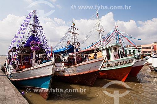 Assunto: Barcos durante procissão fluvial no Círio de Nossa Senhora de Nazaré / Local: Belém - Pará (PA) - Brasil / Data: 10/2010