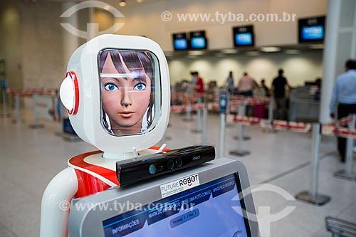 Assunto: Robô de autoatendimento do Banco Bradesco no Aeroporto Santos Dumont (1936) - desenvolvido pela Future Robot / Local: Centro - Rio de Janeiro (RJ) - Brasil / Data: 05/2014