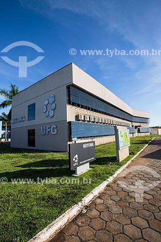 Assunto: Prédio da reitoria da Universidade Federal de Goiás / Local: Goiânia - Goiás (GO) - Brasil / Data: 05/2014