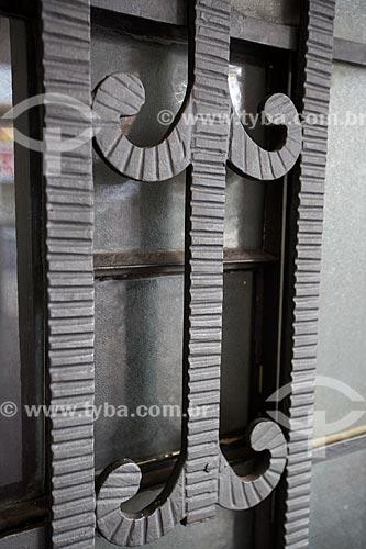 Assunto: Detalhe na fachada do Cine-Teatro Goiânia (1942) / Local: Goiânia - Goiás (GO) - Brasil / Data: 05/2014