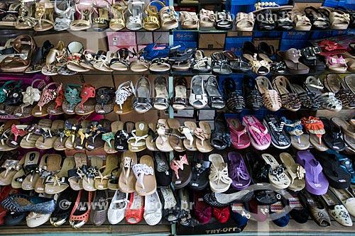 Assunto: Calçados à venda no Mercado Municipal de Goiânia / Local: Goiânia - Goiás (GO) - Brasil / Data: 05/2014