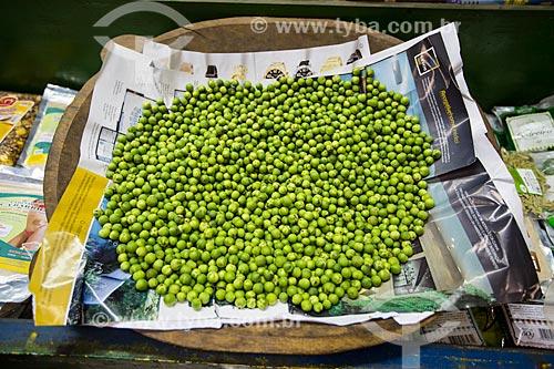 Assunto: Jurubeba (Solanum paniculatum L) à venda no Mercado Municipal de Goiânia / Local: Goiânia - Goiás (GO) - Brasil / Data: 05/2014