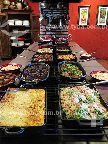 Assunto: Buffet do restaurante La em Casa / Local: Canela - Rio Grande do Sul (RS) - Brasil / Data: 04/2014