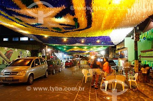 Assunto: Rua Santa Isabel enfeitada com as cores do Brasil para a Copa do Mundo / Local: Praça 14 de Janeiro - Manaus - Amazonas (AM) - Brasil / Data: 06/2014