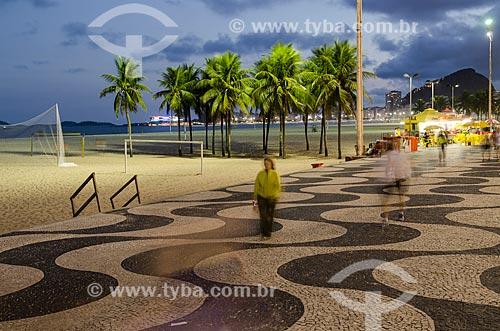 Assunto: Vista do Calçadão do Leme / Local: Leme - Rio de Janeiro (RJ) - Brasil / Data: 06/2012