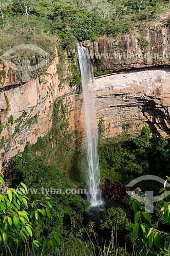 Assunto: Vista da Cachoeira Véu de Noiva / Local: Chapada dos Guimarães - Mato Grosso (MT) - Brasil / Data: 07/2013