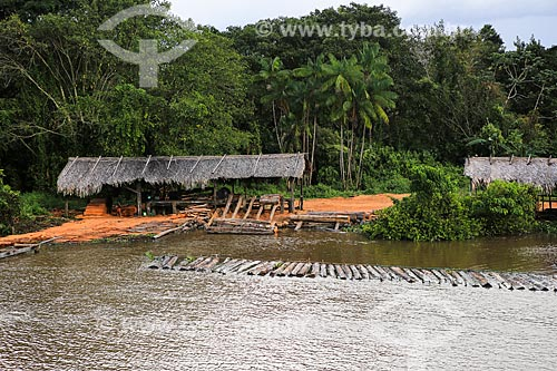 Assunto: Madeireira às margens do Rio Tapajuru próximo a cidade de Breves / Local: Breves - Pará (PA) - Brasil / Data: 03/2014