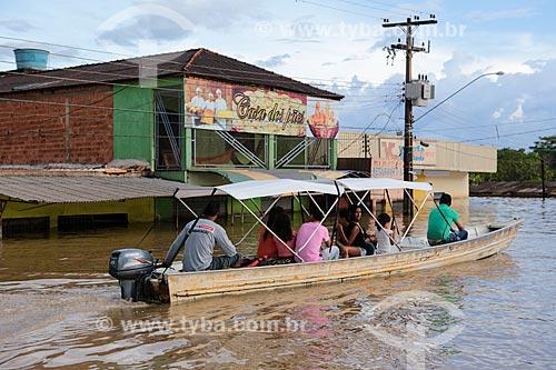 Assunto: Rua do centro de Porto Velho alagada devido à cheia do Rio Madeira / Local: Porto Velho - Rondônia (RO) - Brasil / Data: 04/2014