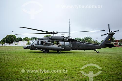 Assunto: Helicóptero com mantimentos para os desabrigados da cheia do Rio Mamoré no Comando de Fronteira Rondônia e 6º Batalhão de Infantaria de Selva / Local: Guajará-Mirim - Rondônia (RO) - Brasil / Data: 04/2014